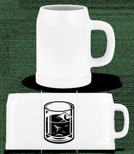 whisky Glass - Pivný pohár - Biela - Predné