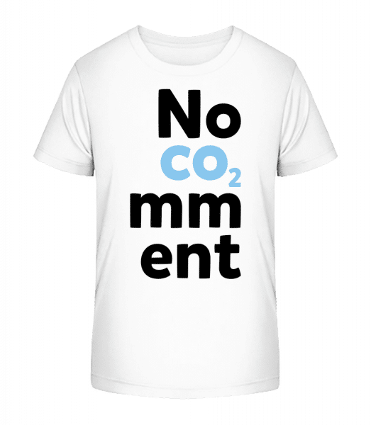No Comment - Kinder Premium Bio T-Shirt - Weiß - Vorn
