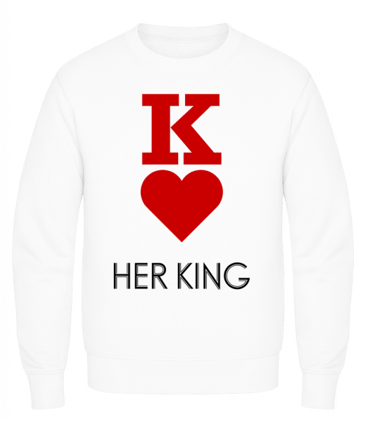 Her King - Men's Sweatshirt AWDis - White - Vorn
