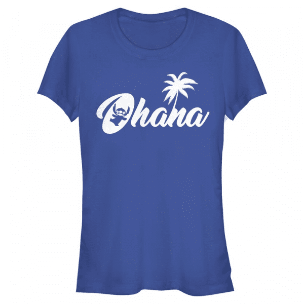 Stitch Sillhouette Ohana - Disney Lilo & Stitch - Women's T-Shirt - Royal blue - Front