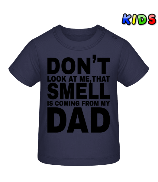 Don't Look At Me - Baby T-Shirt - Navy - Vorn