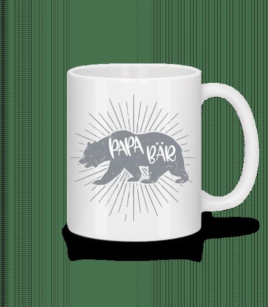 Papa Bär - Tasse - Weiß - Vorn