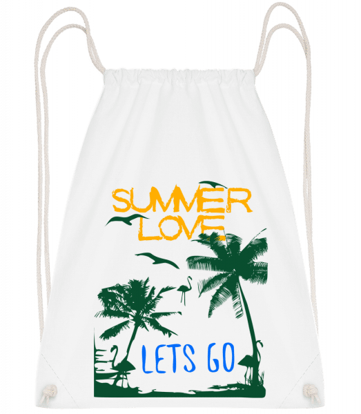 Summer Love Icon - Sac à dos Drawstring - Blanc - Devant