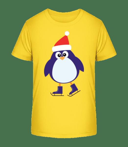 Pingouin De Patin À Glace - T-shirt bio Premium Enfant - Jaune - Vorn