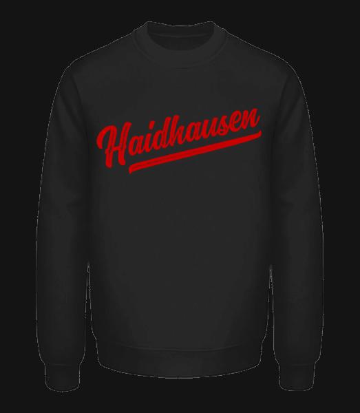 Haidhausen Swoosh - Unisex Pullover - Schwarz - Vorn