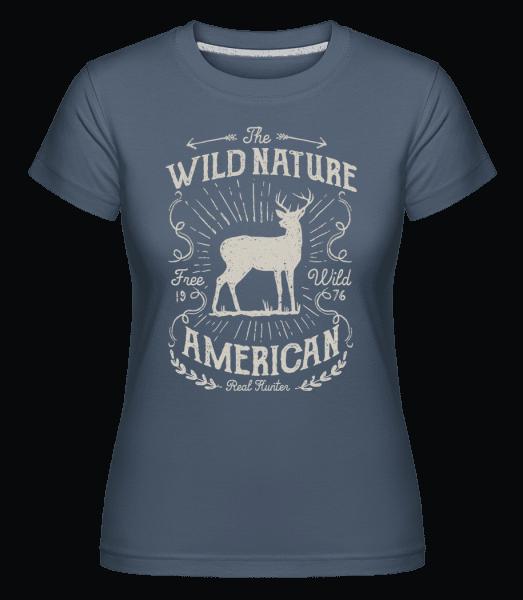Wild Nature -  Shirtinator Women's T-Shirt - Denim - Vorn