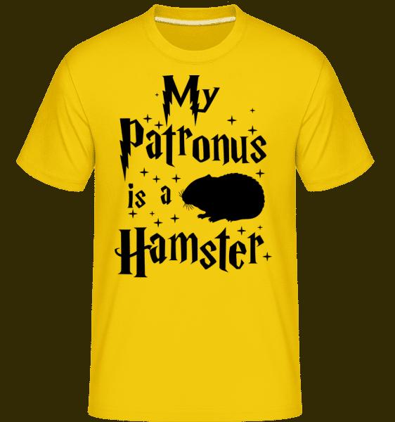 My Patronus Is A Hamster -  Shirtinator Men's T-Shirt - Golden yellow - Vorn