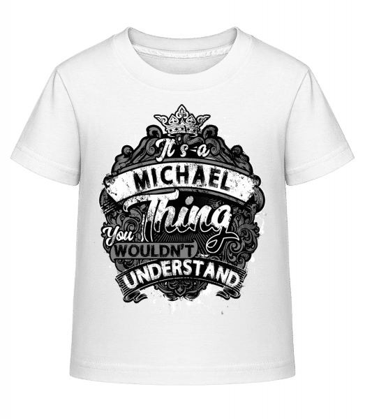 It's A Michael Thing - Kid's Shirtinator T-Shirt - White - Vorn