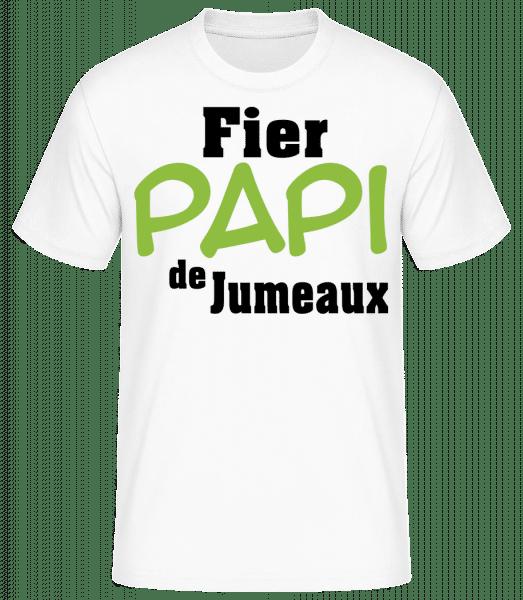 Fier Papi De Jumeaux - T-shirt standard Homme - Blanc - Vorn