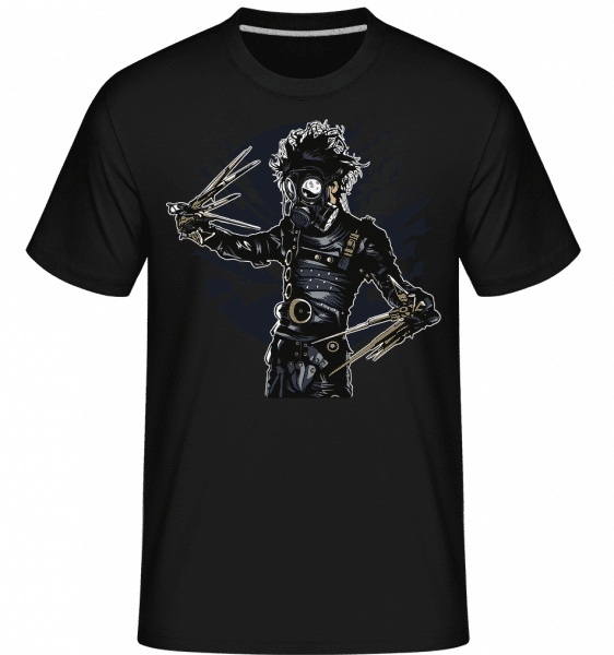 Gas Mask Scissors - Shirtinator Männer T-Shirt - Schwarz - Vorn