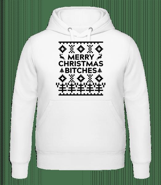 Merry Christmas Bitches - Kapuzenhoodie - Weiß - Vorn