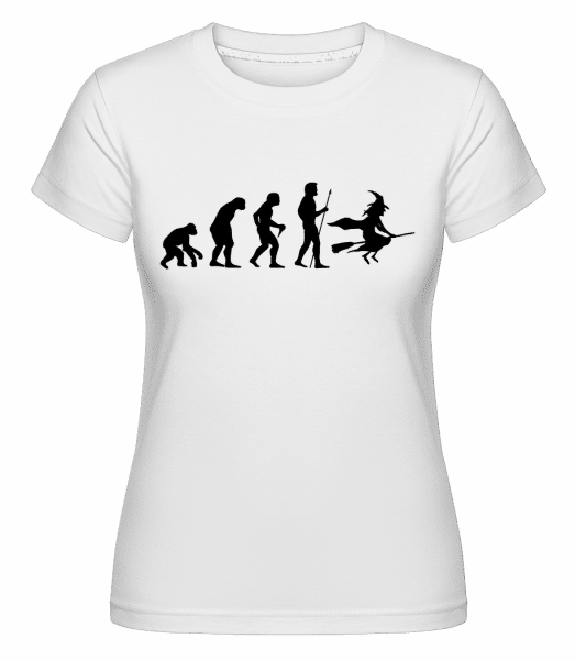 Halloween Evolution -  Shirtinator Women's T-Shirt - White - Vorn