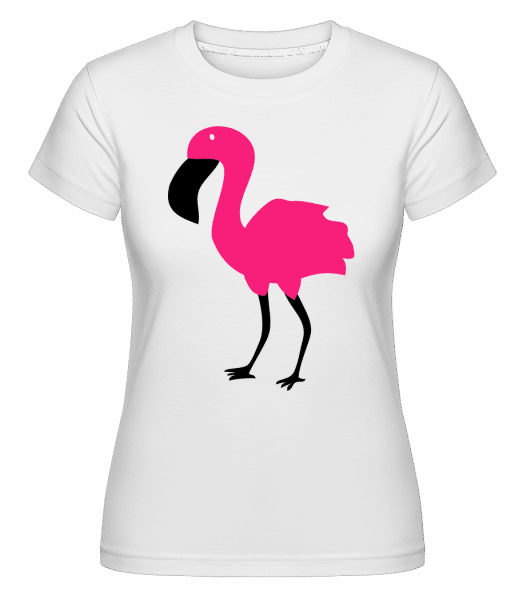 Flamingo Comic Kids - Shirtinator Frauen T-Shirt - Weiß - Vorn