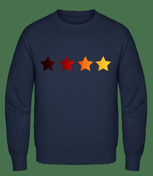 German Flag Stars - Classic Set-In Sweatshirt - Navy - Vorn