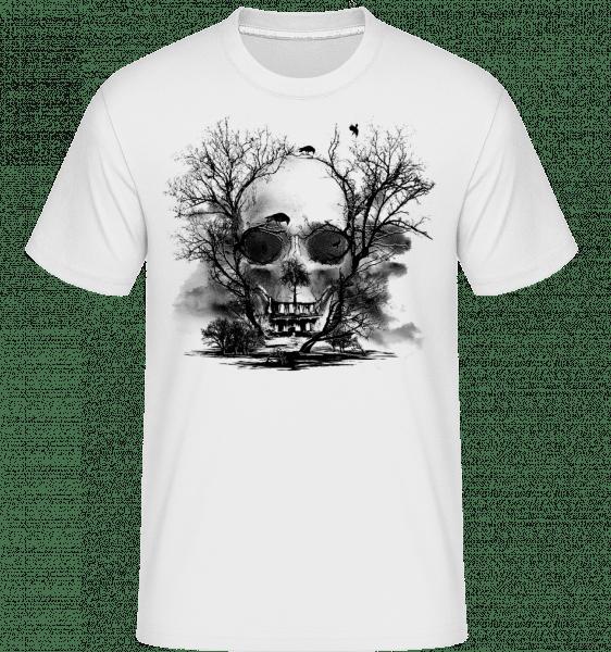 Death Trees -  Shirtinator Men's T-Shirt - White - Vorn