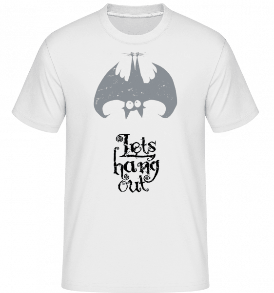 Let's Hang Out Bat -  Shirtinator Men's T-Shirt - White - Vorn
