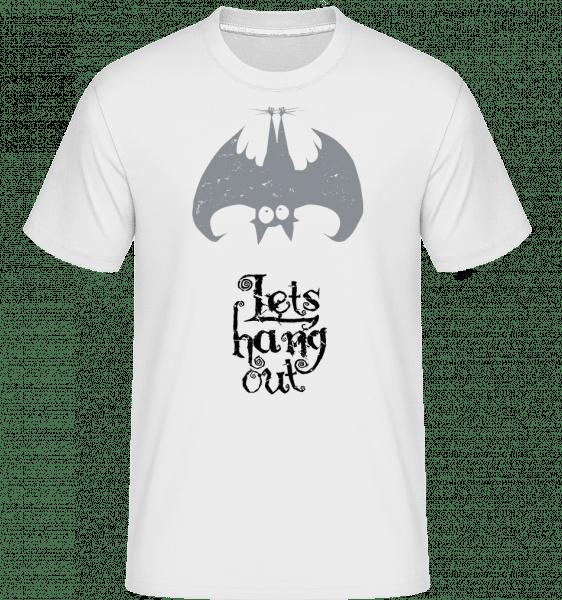 Let's Hang Out Bat -  Shirtinator Men's T-Shirt - White - Front