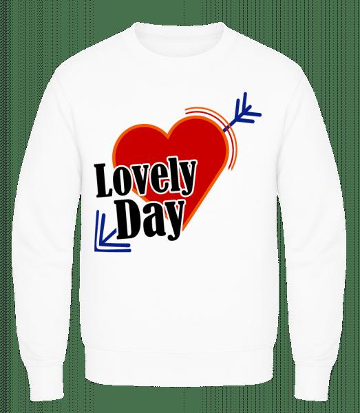 Lovely Day - Men's Sweatshirt AWDis - White - Vorn