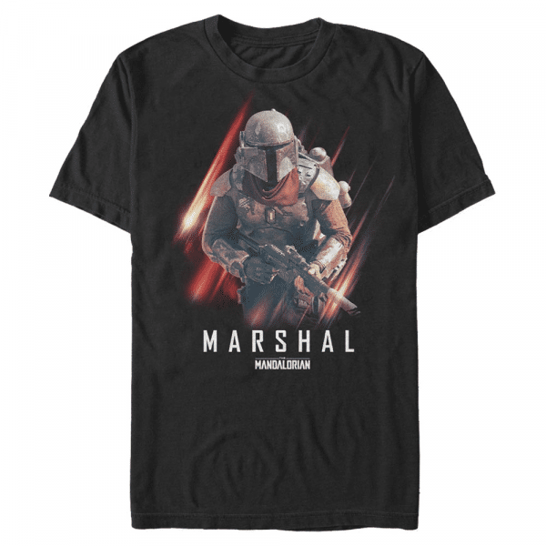 Marshal Action The Marshal - Star Wars Mandalorian - Men's T-Shirt - Black - Front