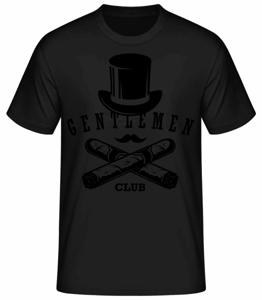 Gentlemen Club - Men's Basic T-Shirt - Black - Front