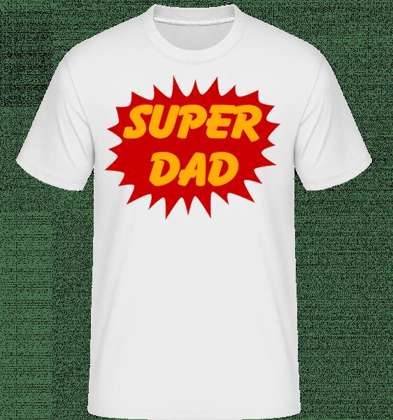 Super Dad -  Shirtinator tričko pro pány - Bílá - Napřed