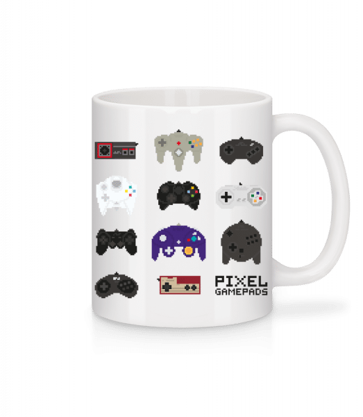 Console Controller Pixel - Keramický hrnek - Bílá - Napřed