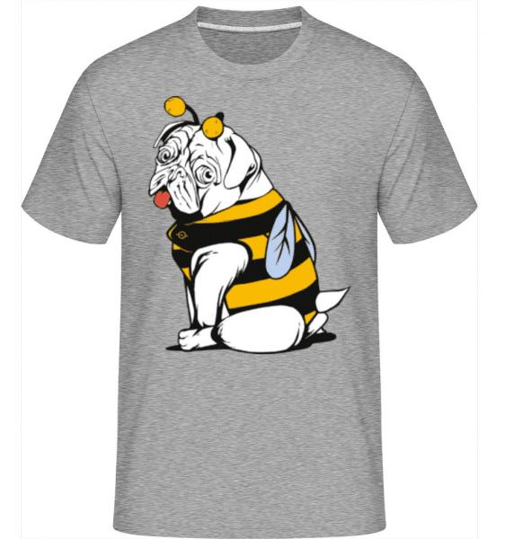 Bee Pug -  Shirtinator Men's T-Shirt - Heather grey - Front