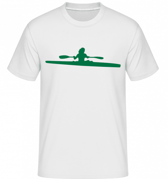 Kayak Shape Green -  Shirtinator Men's T-Shirt - White - Front