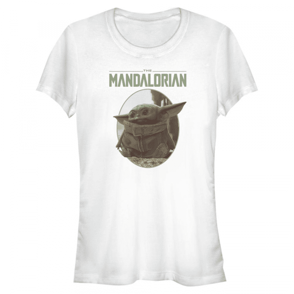 The Look The Child - Star Wars Mandalorian - Women's T-Shirt - White - Front