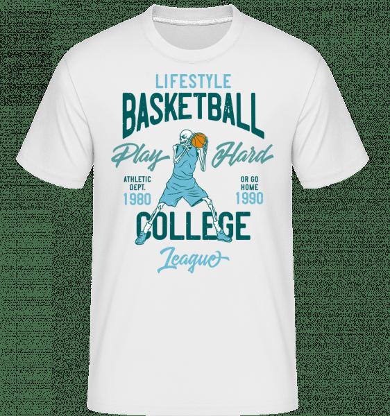Lifestyle Basketball -  Shirtinator Men's T-Shirt - White - Front