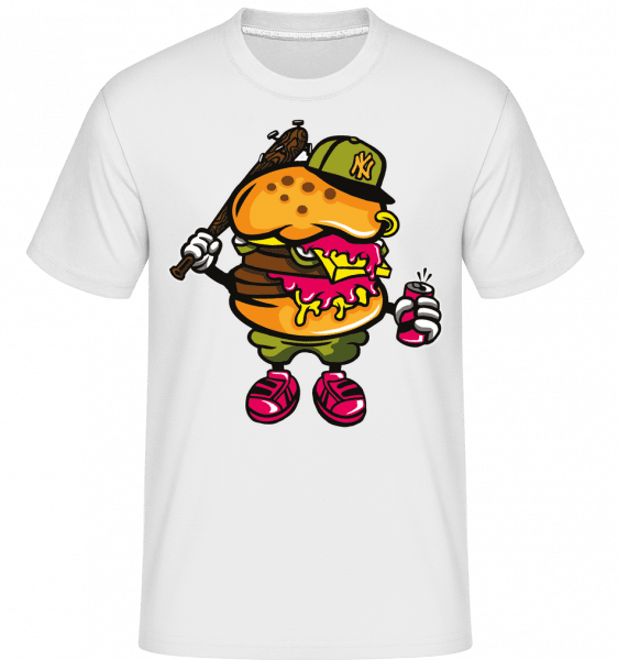Burger Bastard -  Shirtinator Men's T-Shirt - White - Front