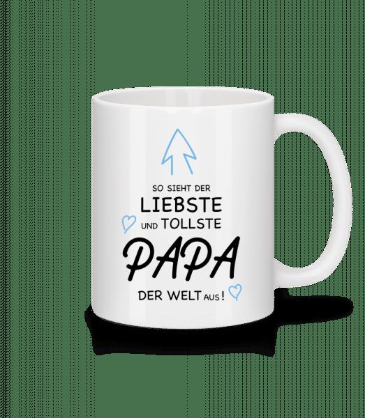 So Sieht Papa Aus - Tasse - Weiß - Vorn