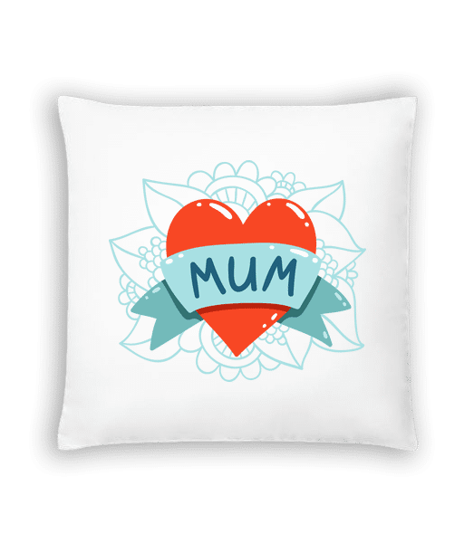 Mum Heart Icon - Cushion - White - Vorn