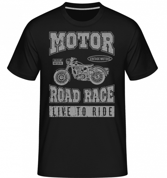 Motor Road Race -  Shirtinator tričko pro pány - Černá - Napřed
