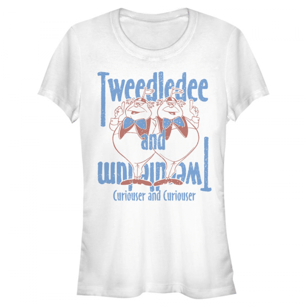 Tweedles - Disney Alice in Wonderland - Women's T-Shirt - White - Front
