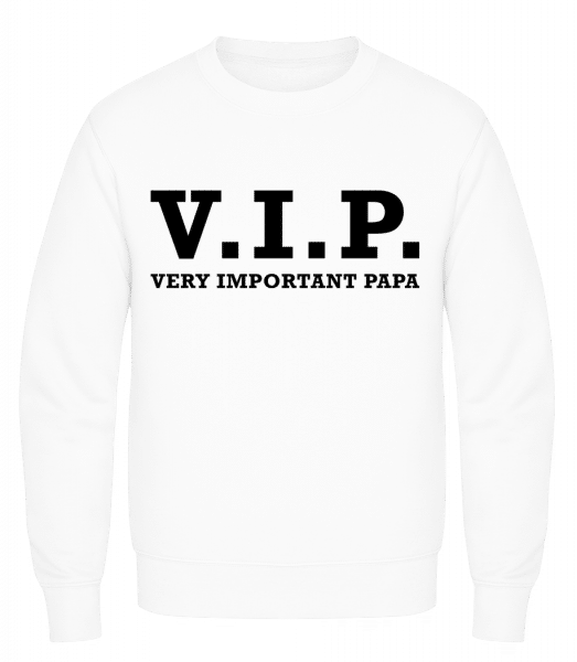 VIP PAPA - Men's Sweatshirt AWDis - White - Vorn