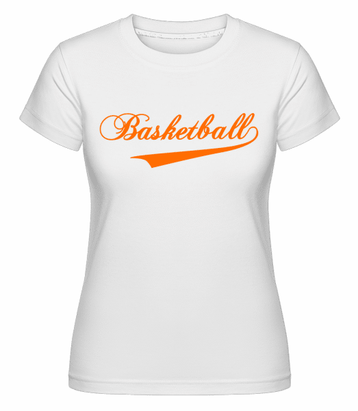Basketball Stroke -  Shirtinator Women's T-Shirt - White - Vorn