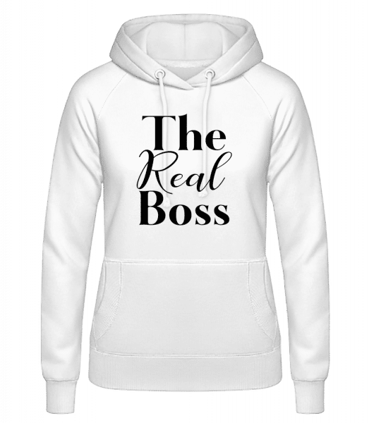 The Real Boss - Women's Hoodie - White - Vorn