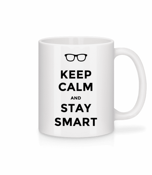 Keep Calm And Stay Smart - Mug - White - Front