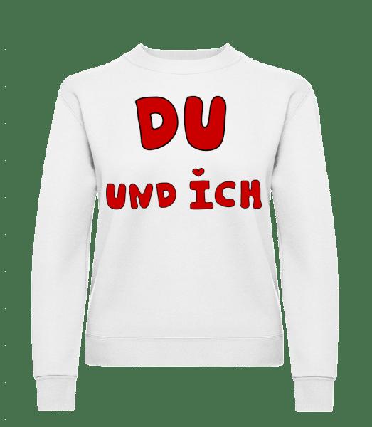 Du Und Ich - Frauen Pullover - Weiß - Vorn
