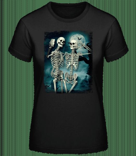 Selfie De Squelette - Basic T-Shirt - Black - Vorn