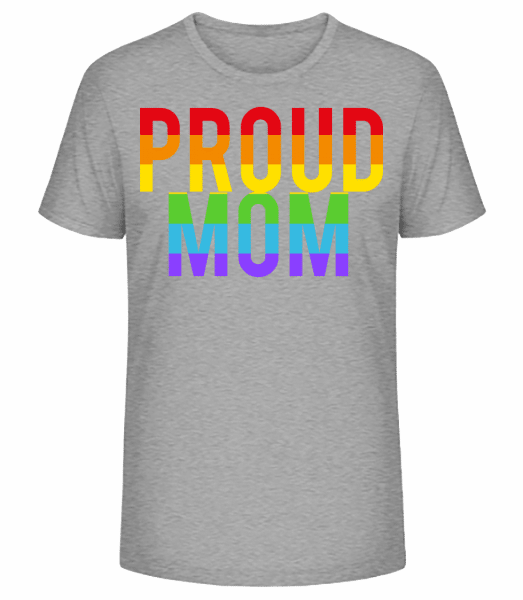 Proud Mom Rainbow - Men's Premium Organic T-Shirt Stanley Stella - Heather grey - Vorn