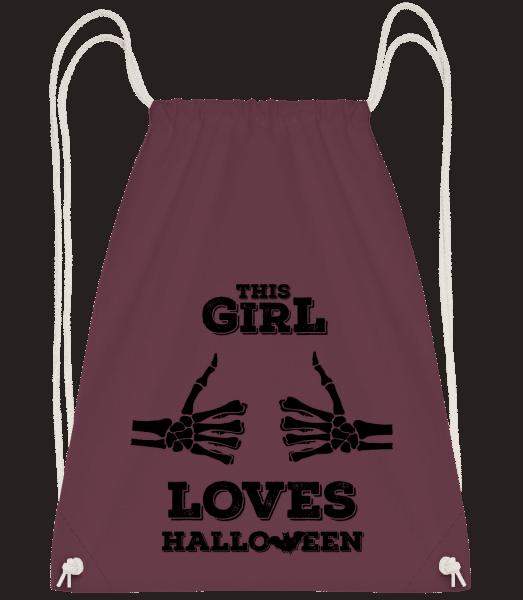 This Girl Loves Halloween - Drawstring batoh se šňůrkami - Bordeaux - Napřed