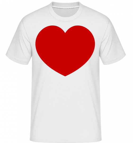 Heart -  Shirtinator Men's T-Shirt - White - Vorn