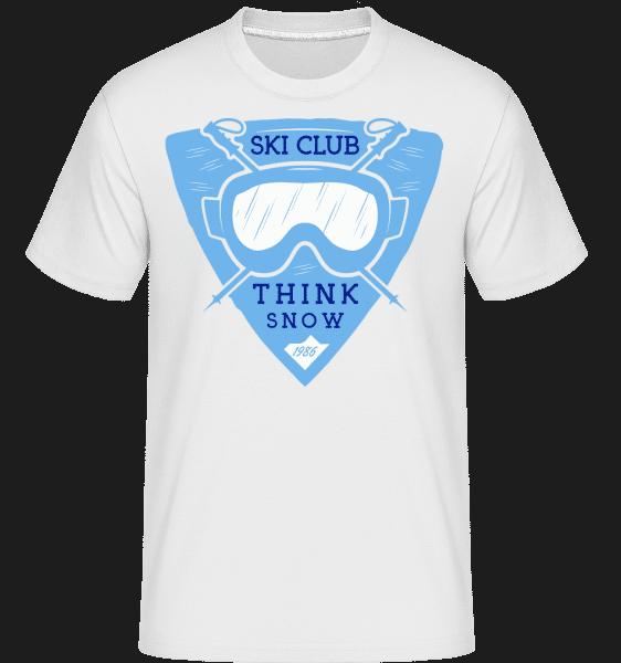 Ski Club Think Snow - Shirtinator Männer T-Shirt - Weiß - Vorn