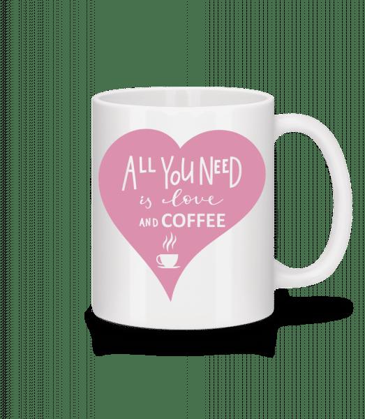 Love And Coffee - Mug - White - Vorn