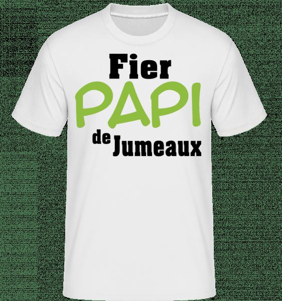 Fier Papi De Jumeaux -  T-Shirt Shirtinator homme - Blanc - Vorn