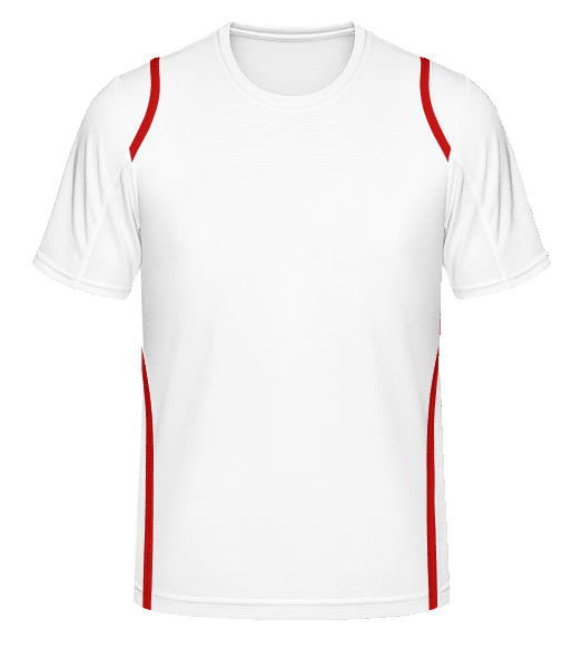 Men's Jersey - White / Red - Front