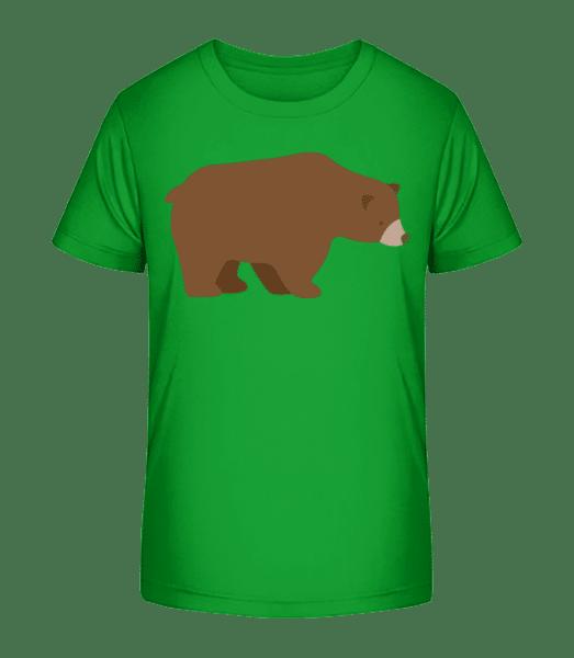 Sad Bear - Detské Premium Bio tričko - Zelená - Napřed