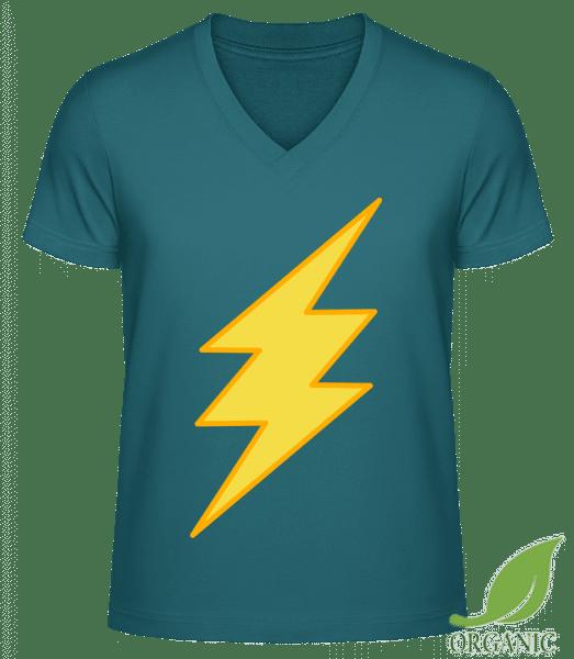 "Flash Icon - ""James"" Organic V-Neck T-Shirt - Petrol - Vorn"